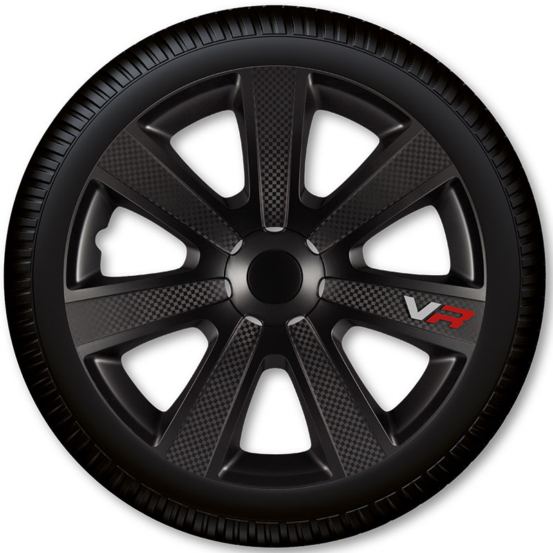 Poklice na kola Racing4 VR Carbon Black 13""
