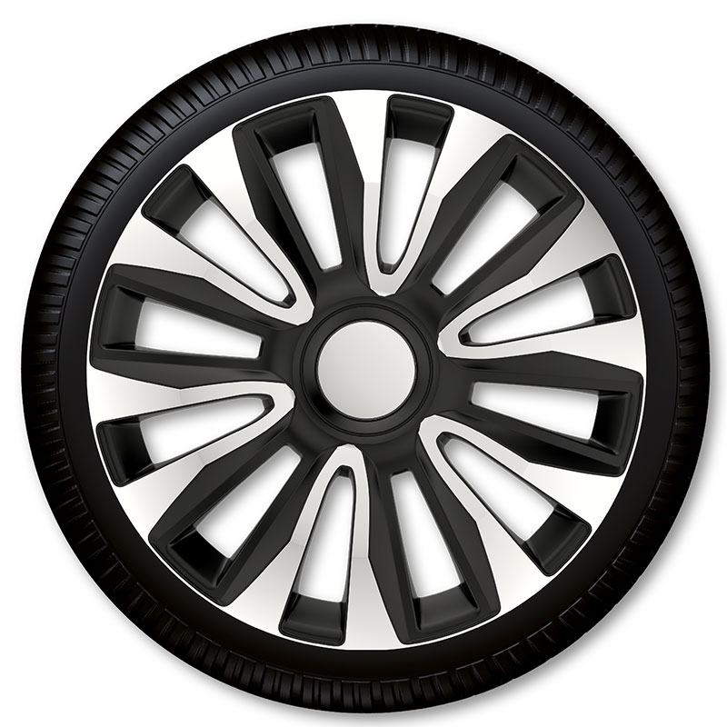 Poklice na kola Racing4 Avalon Silver Black 14""