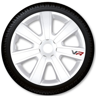 Poklice na kola Racing4 VR Carbon White